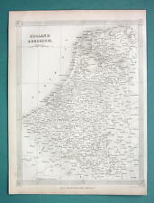 HOLLAND & Belgium - 1841 Original Map