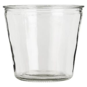 Clear Glass Flower Pot Hannah Perfect for Rope Plant Holder by Ib Laursen