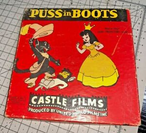 Puss In Boots animation by Castle Films, 8mm silent 200ft Cine, British, 1940s