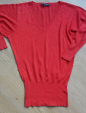 Women's FRENCH CONNECTION lyocell /wool jumper red carrots color  size S/M BNWOT