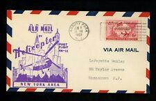 US Postal History Airmail Helicopter Autogiro AAMC #418 Asbury Park NJ 1953