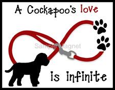 "Cockapoo Love is Infinite Dog Fridge Magnet 3.75"" x 4.75"""