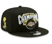 Los Angeles Lakers New Era 9TWENTY NBA Finals Locker Champions Snapback Hat Cap