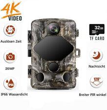 4K HD 20MP Wildkamera mit 32 GB Karte 47PCS 940nm IR LEDs Nachtsicht Jagdkamera