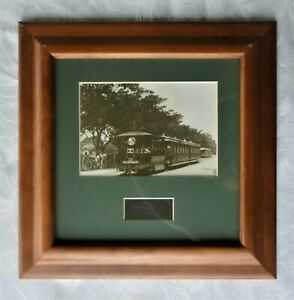 FRAMED ANTIQUE PHOTOGRAPH 'A SYDNEY STEAM TRAM 1895'