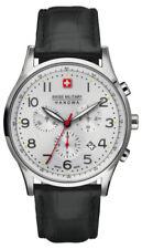Relojes de pulsera Classic de plata de cuero