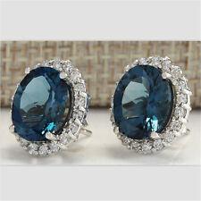 Chic Jewelry 925 Silver Aquamarine Gemstone Dangle Drop Earrings Wedding Jewelry