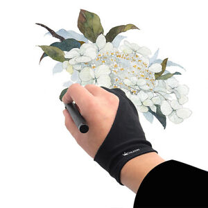 Huion GL200 Two-Finger Free Size Drawing Glove Artist Tablet Painting Glove D2E9