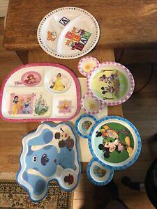 5 DISNEY Kids Divided Princess, MICKEY, PAW PATROL ETC. Plastic Plates