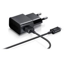 Cargador de red 2A amperios carga rapida universal smartphone movil + cable negr