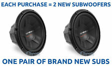 """New! (2) Pioneer 2800W 12"""" Dual 4 Ohm Car Subwoofers/Subs 