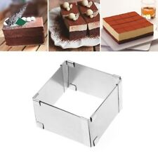 Adjustable Mousse Cake Ring Baking Mold Square Shape Cookie Cutters Bakeware