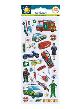 Rescue Vehicles - Stickers - Craft Planet - Fun Stickers - Foiled