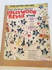 "Vintage Sheet Music ""Your Mother and Mine"" Hollywood Revue of 1929 MGM"