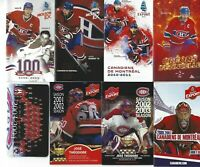 Montreal Canadiens Pocket schedule lot of (7) different plus survey card