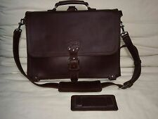 Saddleback Leather Thin Briefcase Large Chestnut Brown Backpack/Barely Used
