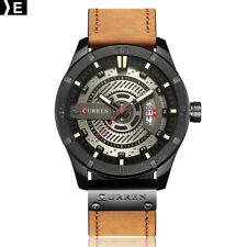 CURREN 8301 Men Sports Watches Quartz Casual Leather Wrist Watch E