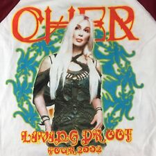Cher Living Proof 2002 Tour NWT Bike Athletic Co Psychedelic T-shirt Mens XL
