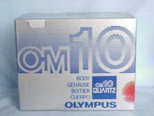OLYMPUS OM-10 QUARTZ BLACK CAMERA BODY BOXED RARE