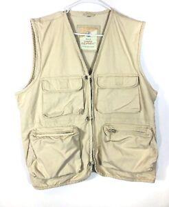 Urban Equipment  Safari Vest Men's Size Large Vintage  Hunting Fishing  Tan