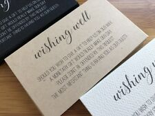 50 x KRAFT Wishing Well Cards - Printed And Cut - Wedding Invitations - AUS