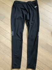 Nike Running Sportswear Athletic Pant Dri Fit Black, Size Med Reflective Pocket