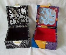 The Nightmare Before Christmas Jack and Sally Hand Painted Wooden Keepsake Boxes