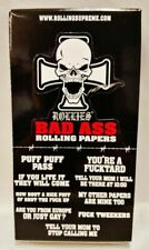 6 Packs ROLLIES Bad Ass 1 1/4 Gummed Cigarette Rolling Papers 50 per Pack