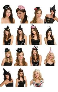 MINI COSTUME HAT SAILOR BIRTHDAY TOP COWBOY FEDORA WITCH PIRATE WENCH SOMBRERO