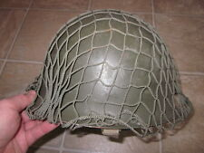Original vintage France French Army fixed bale helmet and liner !