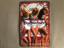 RETRO VINTAGE LOOK: Bikinis! Swimsuit Bud Girls Budweiser Beer  - Sign Man Cave