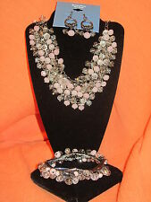 SIMPLY VERA WANG NWT $82 womens necklace ring earrings bracelet set light pink