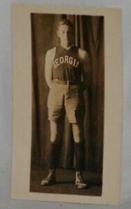 Circa 1920's, Georgia Basketball Player in Full Uniform Original Photograph