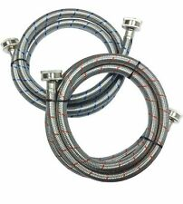 Stainless Steel Washing Machine Hose (2-Pack) 3/4 in. x 3/4 in. x 6 ft.FREE SHIP