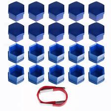 20x 17mm Blue Bolt Head Hexagonal Nut Covers Caps Protectors Car Wheel Tool