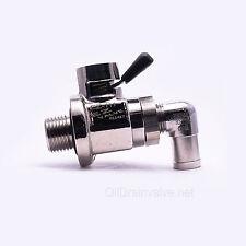 EZ Engine Oil Drain Valve EZ-111(14mm-1.25) & L-Shaped Hose End L-001 COMBO PACK