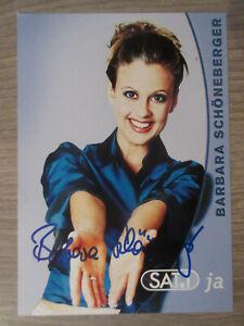 Barbara Schöneberger original handsignierte Autogrammkarte / T5