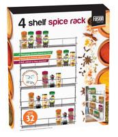 4 5 6 Tier Holder Shelf Kitchen Door Spice Herb Jar Rack Cupboard Storage Wall