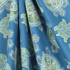 Tommy Bahama Tranquil Turtles Window Curtain Valance 52 x 16