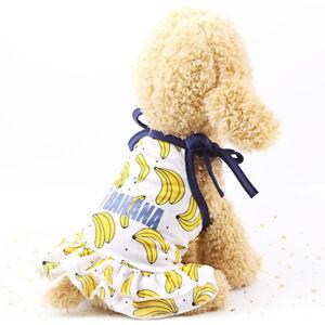 Dog Dress Small Puppy Printed T-Shirt Summer Cat Pet Clothes/Couples Vest XS-XL