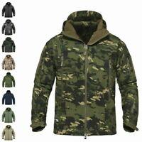 Waterproof Mens Tactical Jacket Soft Shell Coat Army Military Jacket Windbreaker