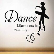 Ballet Dancing Girl Quote PVC Art Decal Wall Sticker Home Decal Removable Decor