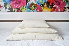 Merino Wool Pillow Pure Wool Filling Organic Cotton Natural 45 x 75cm Bed Pillow