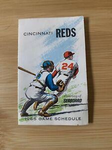 1965 Cincinnati Reds Baseball Pocket Schedule