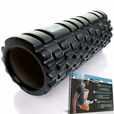 Foam Roller for Muscle Massage w/ Exercise Book Ultra Lightweight Hollow Core