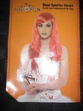 HALLOWEEN COSTUME BLOOD SPLATTERED LADIES CORSET UK SIZE SMALL