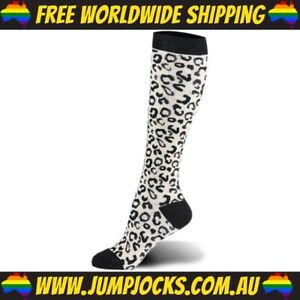 Leopard Print Long Socks - Unisex, Compression *FREE WORLDWIDE SHIPPING*
