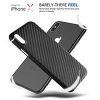 Für Apple iPhone X XR XS MAX CARBON CASE Design Fiber Hülle Backcover Tasche