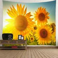 US Sunflower Print Tapestry Wall Hanging Throw Bedspread Art Tapestry Home Decor