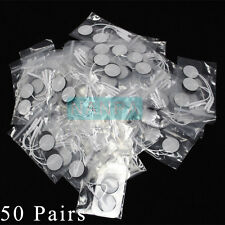 New 50 Pairs Self Stick Replacement Electrode Round Pad For Microcurrent Machine